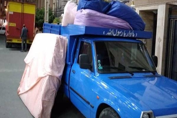 حمل اثاثیه منزل جهت باربری نیسان قم به تهران
